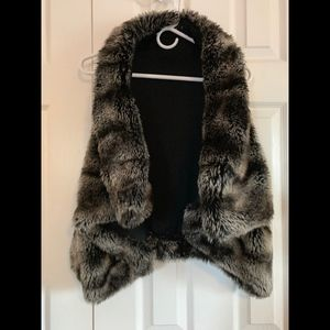 Ark & Co faux fur vest